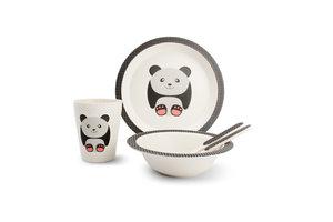 Bamboe kinder servies set Panda