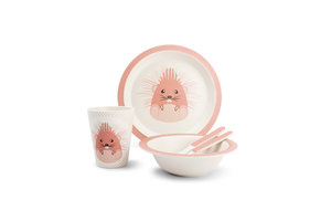 Bamboe kinder servies set Hedgehog
