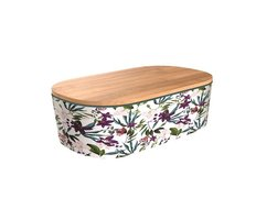 BambooFriends de Luxe Bamboe Lunchbox met houten deksel Jungle Blooms