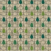 Naturals servet groene druppels, 33x33cm gerecycled/ongebleekt
