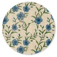 Naturals ronde papieren onderzetters met blauwe bloemen print
