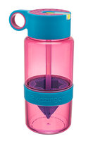 KidZinger Juice Maker - roze waterfles met pop-up rietje