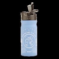 ReTulp RVS drinkfles 400ml lichtblauw Dutchies, met handige drinktuit.