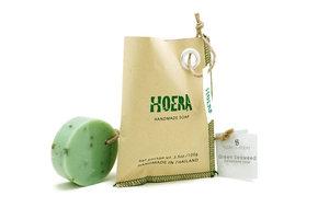 Fairtrade zeepje 'Hoera' van Kanika, groen zeewier