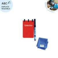 Correctbook pocket notitieboekje A7 met pen en wisdoekje - rood