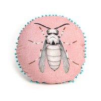 Imbarro Cushion Fly - rond sierkussentje roze
