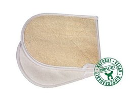 Croll & Denecke massage handschoen van luffa, fijn en grof