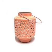 Only Natural Fairtrade Iron Lantern - roze