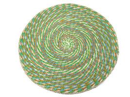FairTrade placemat rond multicolour groen zeegras