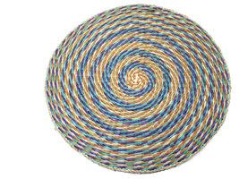 FairTrade placemat rond multicolour paars zeegras