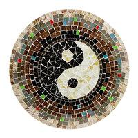 FairTrade Ying Yang mozaïek wanddecoratie van Sarana