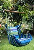 FairTrade Hangmatstoel inclusief kussenhoezen, M Blauw