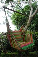 FairTrade Hangmatstoel inclusief kussenhoezen, XL Groen