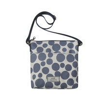 Earth Squared Messenger Bag Blue Spot, fairtrade canvas schoudertas