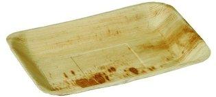 Palmblad bord rechthoekig 16x24cm , pak 25 stuks