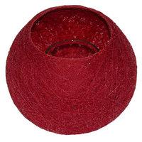 FairTrade Waxinehouder draadbal rood