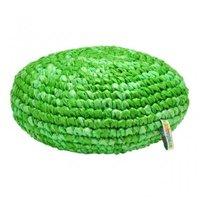 FairTrade kussen gemaakt van gerecyclede plastic tasjes. Mixed-groen