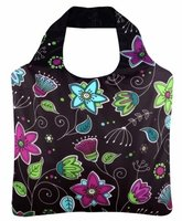 Ecozz opvouwbare shopper van gerecyclede Pet print Delight03