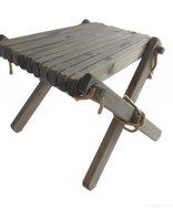 EcoFurn Lilli Table, Tafeltje in grijs geolied dennenhout
