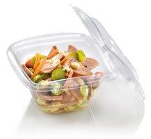 PLA Saladebowl met deksel 480ml. Pak van 10 stuks