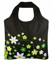 Ecozz opvouwbare shopper van gerecyclede Pet, Flowers Green