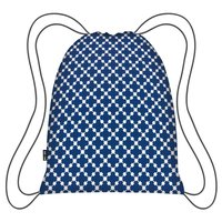 Ecozz opvouwbare rugzak Easy Travel Squares Blue