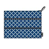 Ecozz Etui Zip Bag Squares Blue, gemaakt van rPET