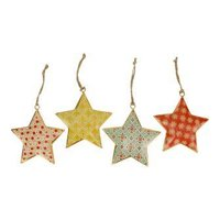 Imbarro metalen kersthanger Graphic Star