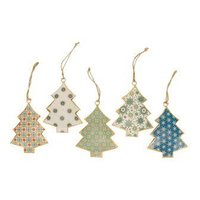 Imbarro metalen kerstboom hanger Graphic Tree