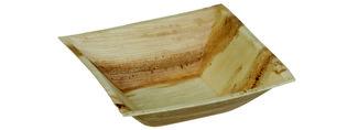 Palmblad kom vierkant 16cm, pak 25 stuks