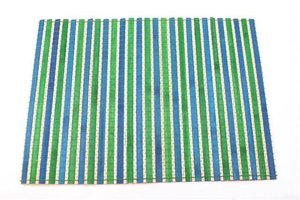 FairTrade Placemat bamboe turquoise/groen