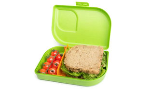 Nana Lunchbox van 100% recyclebaar Bioplastic in groen.