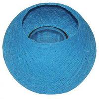 FairTrade Waxinehouder draadbal blauw