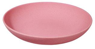 Zuperzozial diep bamboe bord, Deep Bite Plate Lollipop Pink