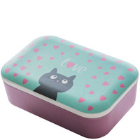 BambooFriends grote Bamboe Lunchbox Cat - Eco broodtrommel