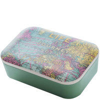 BambooFriends grote Bamboe Lunchbox WorldMap - Eco broodtrommel