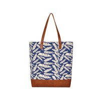 Fairtrade linnen shopper Blue Feather.