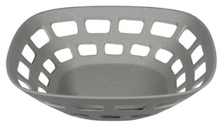 Bamboe broodmand/fruitschaal van Zuperzozial Basket Case Stone Grey