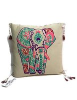 Only Natural Fairtrade kussen met Olifant print