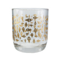Eco Design Fairtrade laag drinkglas Triangle goud
