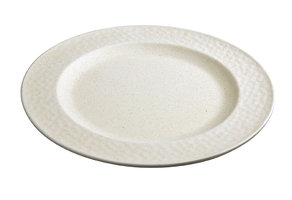 Bamboe ontbijtbord Small plate Hammered Coconut White, Zuperzozial Ø20,5cm