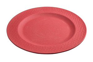 Bamboe ontbijtbord Small plate Hammered Cherry Red, Zuperzozial Ø20,5cm