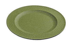 Bamboe ontbijtbord Small plate Hammered Moss Green, Zuperzozial Ø20,5cm