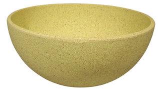 Bamboe kom van Zuperzozial: Big Bowl Lemony Yellow, Ø16cm
