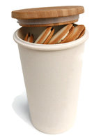 Zuperzozial Bamboe voorraadbus/Safe keeping box wit