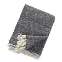 Klippan deken van Eco wol Hekla Dark Grey