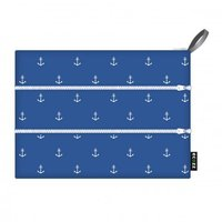 Ecozz gewatteerd etui Zip Bag Anchors, van gerecycled plastic