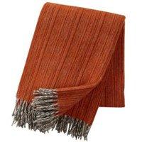 Klippan deken van Eco wol Björk Orange