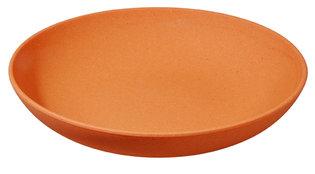 Zuperzozial diep bamboe bord:Deep Bite Plate Pumpkin Orange