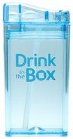 Drink in the Box Blauw, herbruikbaar drinkpakje met rietje.